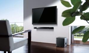 Bluetooth Soundbar unter dem Fernseher